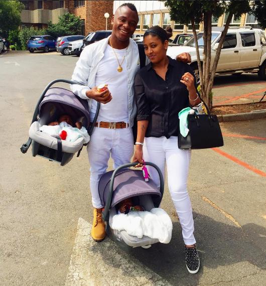 Tsepo Masilela & His Twins, Check The Adorable Pictures Here - Diski 365