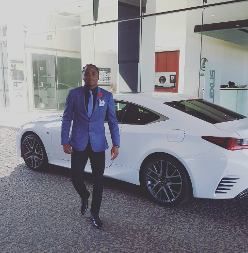 Shabalala Showing Off His Beautiful Car, Check Out