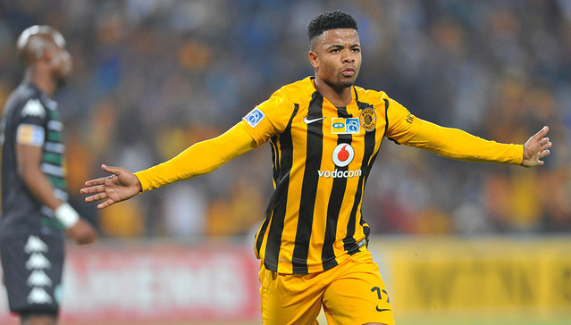 George Lebese of Kaizer Chiefs celebrates his goal during the 2015 MTN8 semifinal, second leg football match between Kaizer Chiefs and Bloemfontein Celtic at Soccer City in Johannesburg, South Africa on August 29, 2015 ©Samuel Shivambu/BackpagePix