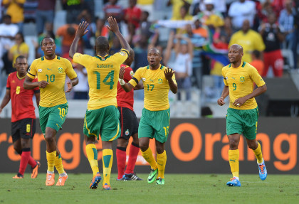 Football - 2014 CAF African Nations Championships - South Africa v Mozambique - Cape Town