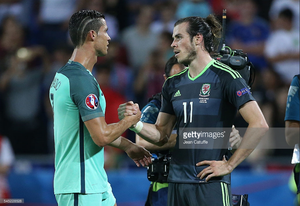 ronaldo and bale at euro semi finals