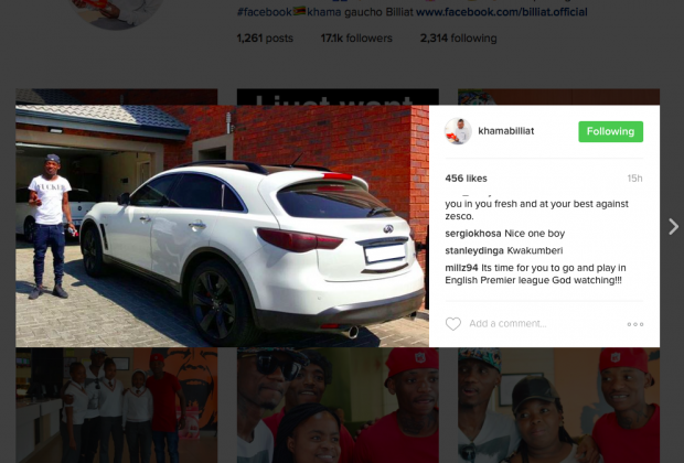 Khama Billiat Shows Off His Car Collection Diski 365