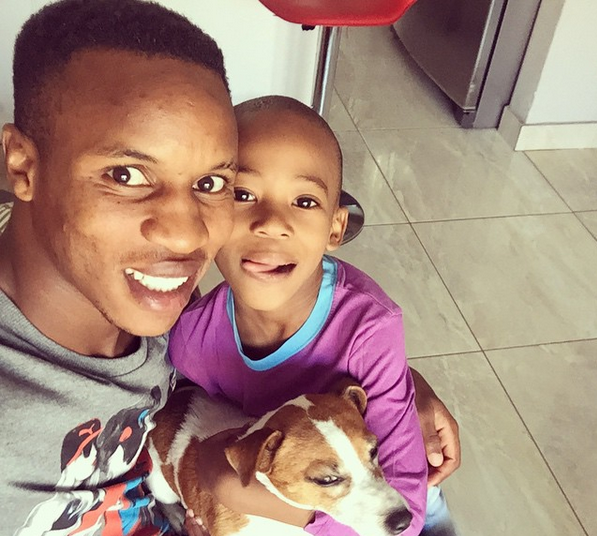 Checkout 5 Cute Photos Of Themba Zwane With His Son