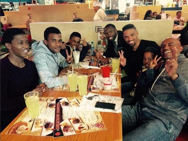 Checkout Bernard Parker Having Lunch With His Family
