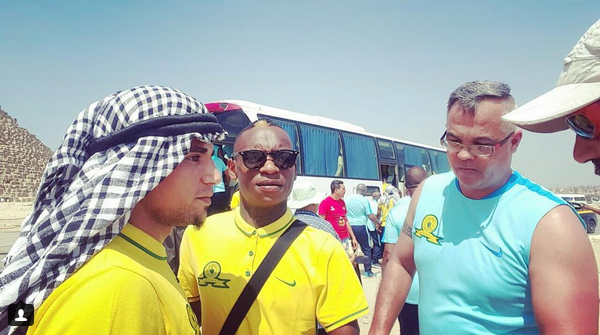 Checkout Photos Of Khama Billiat And Keagan Dolly In Egypt