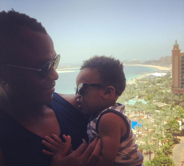 Checkout Tsepo Masilela Having A Father And Son Time