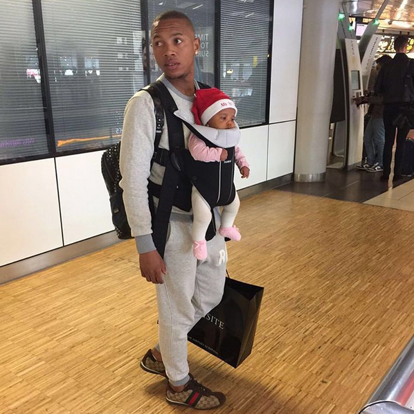 Checkout 5 Cute Photos Of Andile Jali Spending Time With