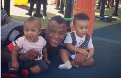 Pics! Tsepo Masilela's Twins Are All Grown Up