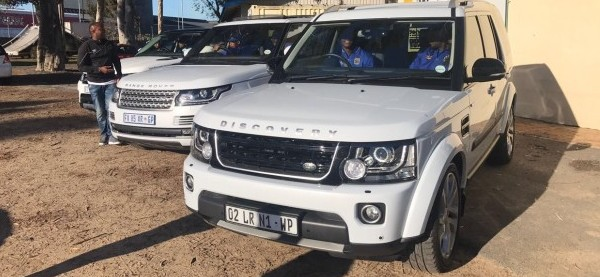 Cape Town City Players Test-Drive Land Rovers And Jaguars