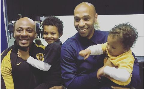 Pics! Kaizer Motaung Jr's Kids Play Football With Henry