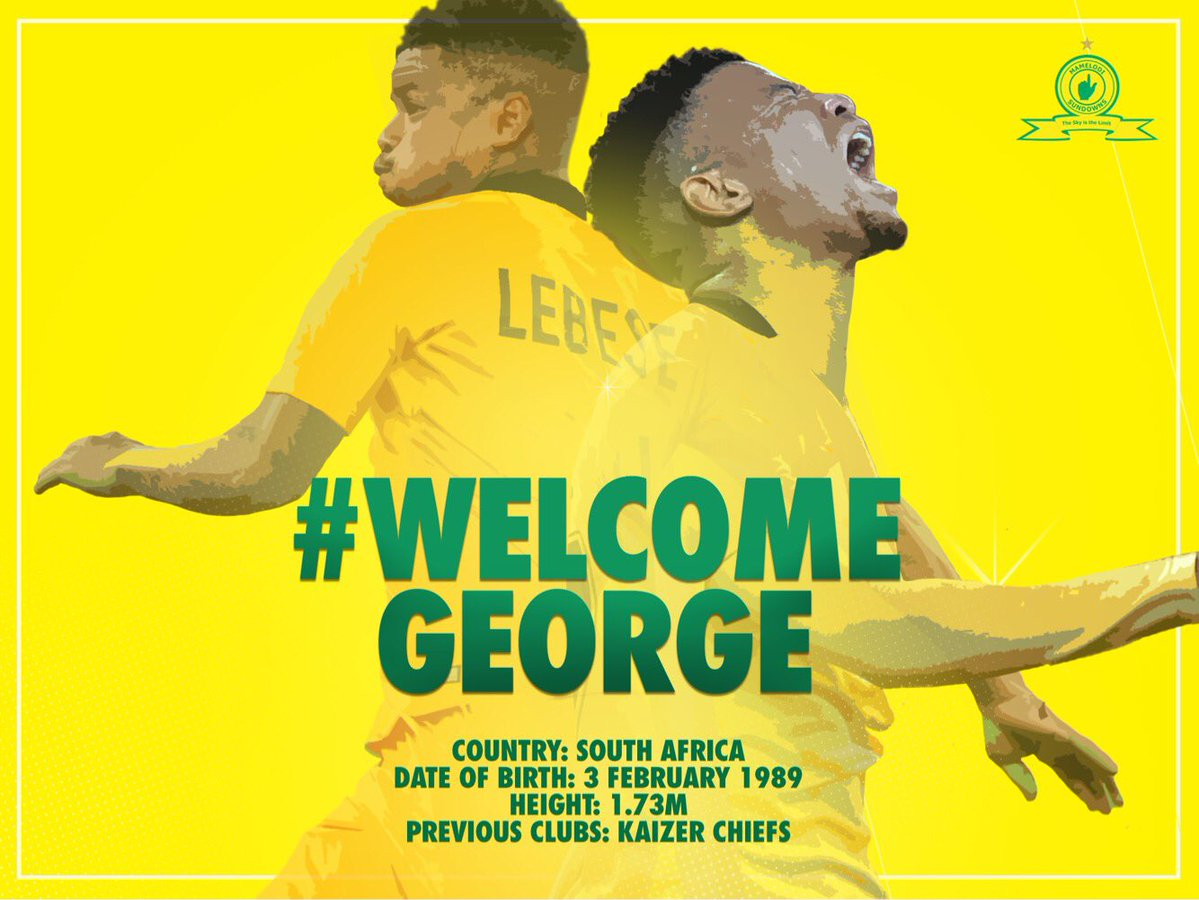 Watch! Gerge Lebese's First Message As A Sundowns Player