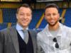 NBA Star Steph Curry Shows Off Football Skills At Stamford Bridge