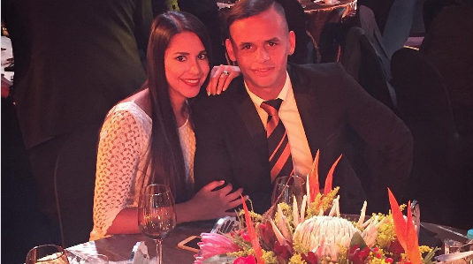 5 Photos Of Chiefs' Pàez And His Wife Enjoying South Africa