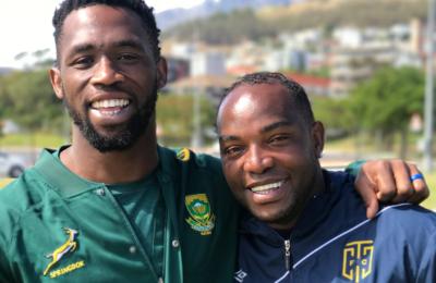 Pics! Springbok's Siya Kolisi At Cape Town City Training Session