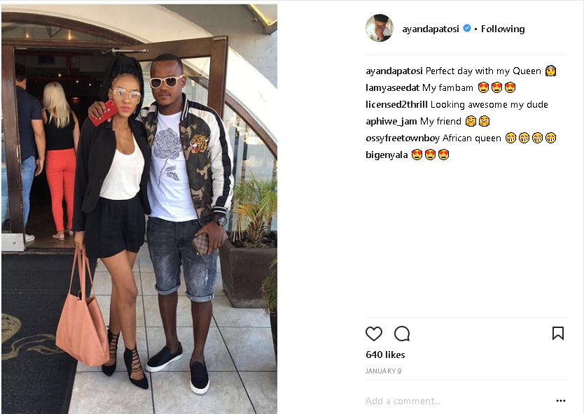 3 Times Ayanda Patosi Showed Off His Woman Diski 365