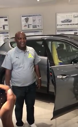 Pics Sundowns Coach Pitso Mosimane Gets New Car Diski 365