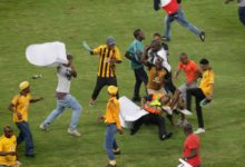 Watch! Disturbing Footage Of Kaizer Chiefs Fans Beating A Security Guard At Moses Mabida Stadium