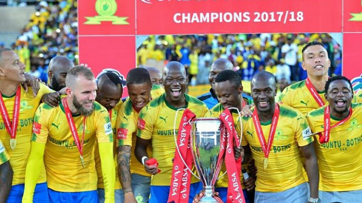 In Photos! Sundowns Players Celebrate Their PSL Championship