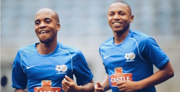 Oupa Manyisa And Andile Jali Share Reunion Excitement